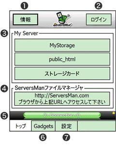 ServersMan Top画面